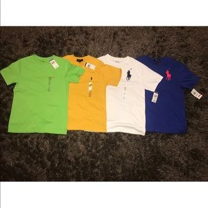 BRAND NEW BOYS POLO TEE SHIRTS SET OF 4!